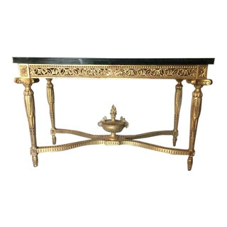 """Louis XVI"" Rectangular Console With Urn"