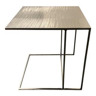 Modern Rodolfo Dordoni for Minotti Leger Brushed Plate Metal Side Table