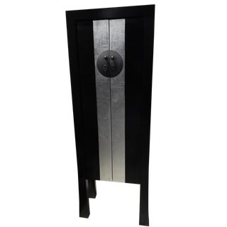 Black Lacquer Armoire 6 For Sale