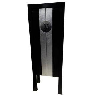 "Black Lacquer Armoire 65"" H For Sale"