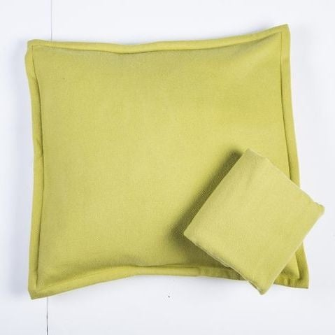 Room & Board Washable Wool Shams in Chartreuse - Image 2 of 6