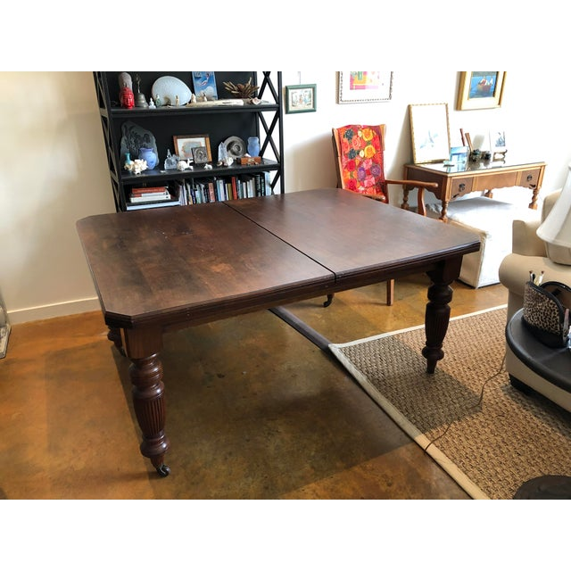19th Century Victorian Walnut Dining Table For Sale In San Francisco - Image 6 of 6