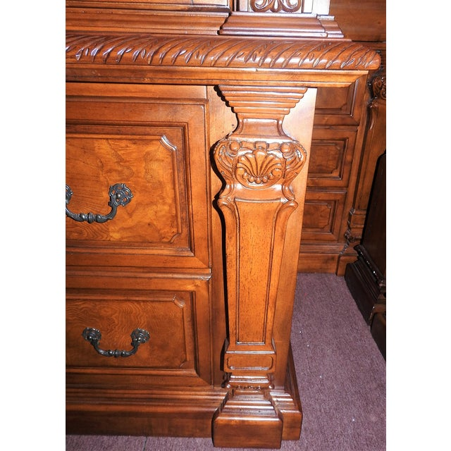 Luxury Cherry Tv Armoire & Dresser Set - Image 9 of 11