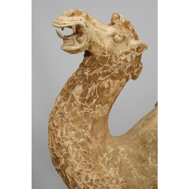 Asian Asian Chinese Tang Dynasty Unglazed Pottery Camel For Sale - Image 3 of 7