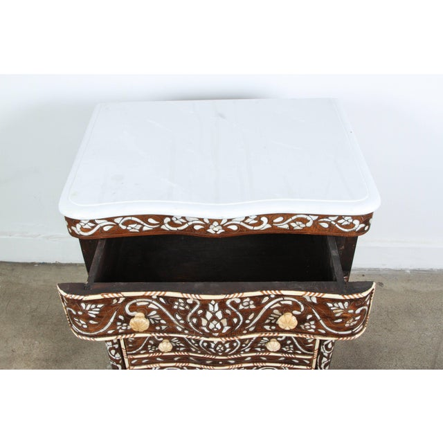 Pair of Syrian Mother-Of-Pearl Inlay Nightstands For Sale In Los Angeles - Image 6 of 10