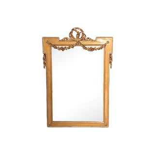 Gold Empire Style Mirror For Sale