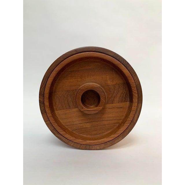 Vintage Mid-Century Modern Danish Teak Barware Tray and Serving Set For Sale In New York - Image 6 of 13