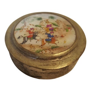 Antique Persian Silver Snuff Box For Sale