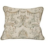 Image of A Fortuny Pillow With Lions & Monkeys For Sale