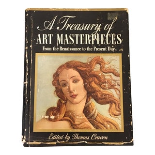 "1939 Vintage ""A Treasury of Art Masterpieces From the Renaissance to Present Day"" Art History Book For Sale"