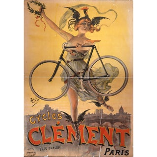 Print of French Bicycle Advertisement From 1800's For Sale