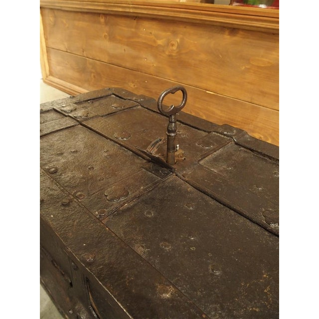 Brown 17th Century Iron Strongbox from a Ship For Sale - Image 8 of 11