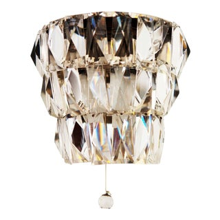Mid-Century Crystal Wall Lamp by Bakalowits & Sons For Sale