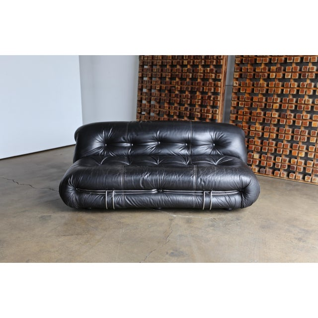 1970s Vintage Soriana Settee by Afra & Tobia Scarpa for Cassina For Sale - Image 10 of 13