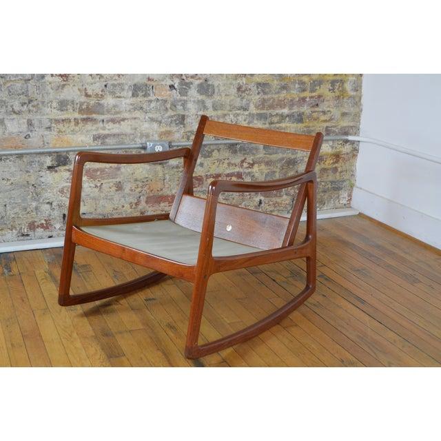 Wood Ole Wanscher Danish Modern Teak Rocking Chair For Sale - Image 7 of 9