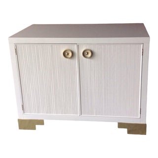 Pristine White Lacquer Chest by Barbara Barry for Baker For Sale