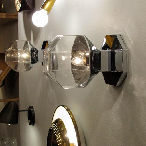 Motoko Ishii for Staff Leuchten Modulare Chrome and Glass Light For Sale - Image 9 of 10