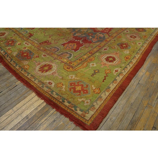 """Traditional Antique Oushak Rug 10'8"""" X 14'6"""" For Sale - Image 3 of 6"""