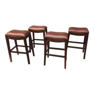 Backless Bar Stools- Set of 4 For Sale