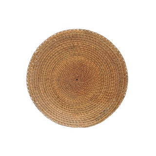 Vintage Woven Rattan 'Hapao Saucer' Basket or Tray, Benquet, Philippines For Sale