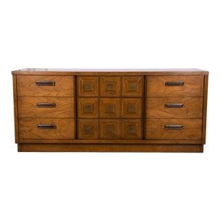 Mid Century Lane Furniture Nine Drawer Dresser For Sale
