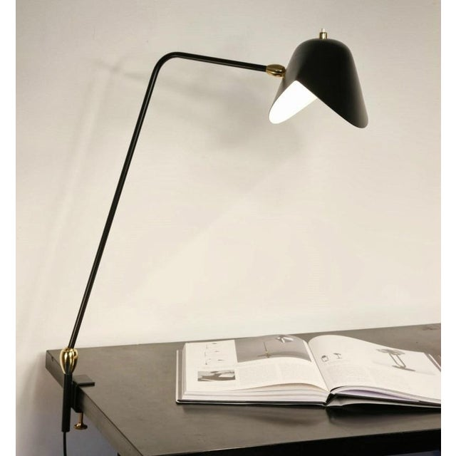 Mid-Century Modern Agrafee Desk Lamp, Double Swivel, by Serge Mouille For Sale - Image 3 of 4