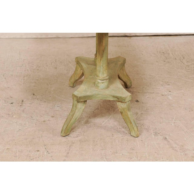 Swedish 19th Century Neoclassical Painted and Carved Wood Lindome Style Table For Sale - Image 9 of 10