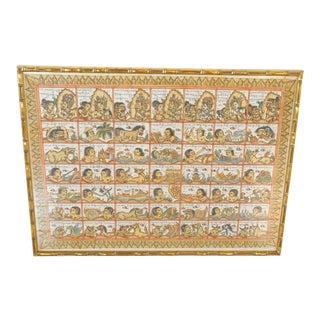 Vintage Indonesian Sanskrit Calendar For Sale