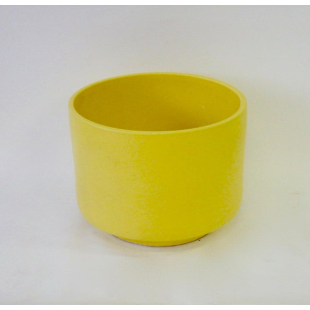 Large California Modern Yellow Planter Pot by Gainey For Sale In Detroit - Image 6 of 6