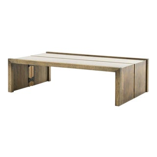 Modern Four Hands Weaver Brass Coffee Table For Sale