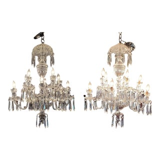 Waterford Crystal Avoca 10 Arm Chandeliers - a Pair For Sale