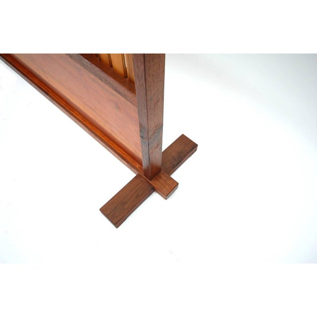 Cherry Wood Small Japanese Style Room Divider by Teruo Hara For Sale - Image 7 of 9