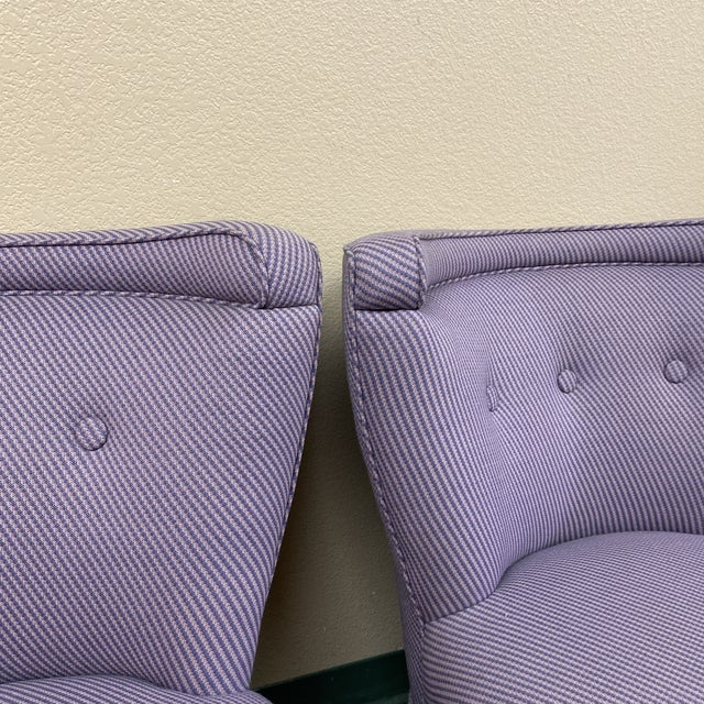 Mid 20th Century Custom Slipper Chairs- a Pair For Sale - Image 12 of 13