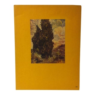 """Mounted Vintage Print on Paper, """"Cypresses - 1888"""" - Circa 1930 For Sale"""