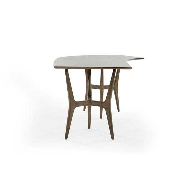 Mid 20th Century Mid-Century Modern Asymmetrical Walnut Desk For Sale - Image 5 of 13