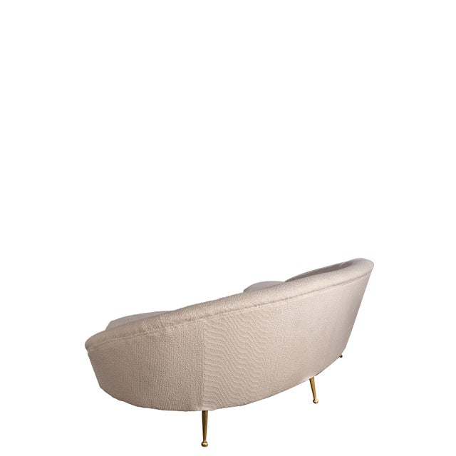 Contemporary Ipanema Boucle Curved Sofa For Sale - Image 3 of 5