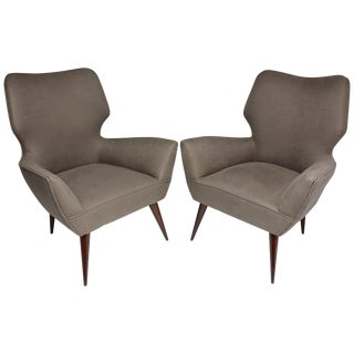 Pair of Italian Midcentury Armchairs, 1950s For Sale