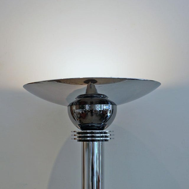 1980s Walter Prosper Torchere Floor Lamp For Sale - Image 4 of 7