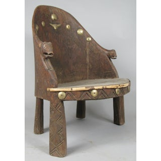 Carved Chief's Chair From Nagaland, India Preview