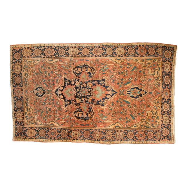 "Antique Farahan Sarouk Persian Rug - 3'10"" X 6'6"" For Sale"