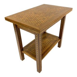 1927 Folk Art American Craftsman Extraordinarily Inlaid Table For Sale