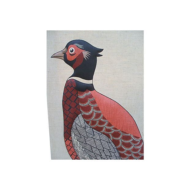 Vintage Pheasant Wall Hanging - Image 2 of 7