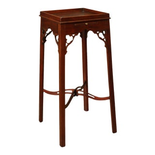 George III Style Custom Mahogany Kettle Stand For Sale
