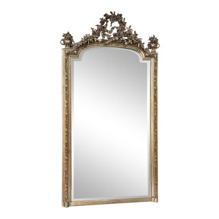 19th Century French Louis XVI Neoclassical Gilded Mirror For Sale