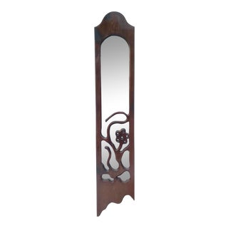 1960's Vintage Biomorphic Carved Wood Mirror For Sale