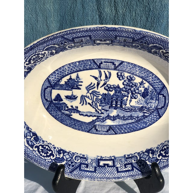 Rare 1930's Homer Laughlin Blue Willow Pattern Oblong Serving Bowl. Perfect classic shade of blue you only find in this...
