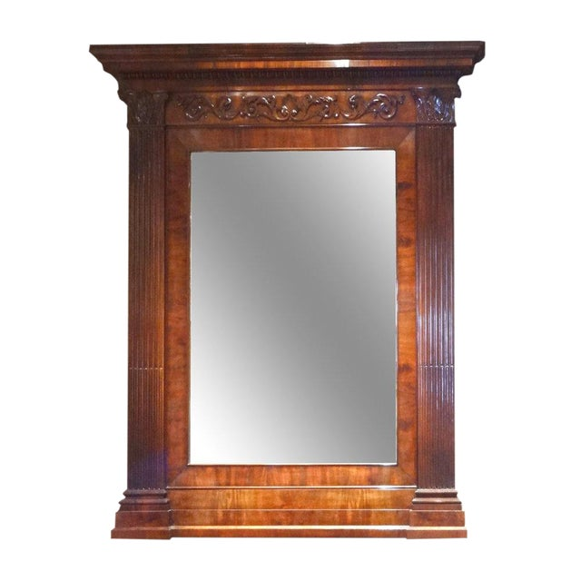 Neoclassical Overmantle Mirror For Sale
