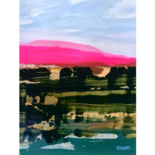 "Contemporary Landscape ""Desert Color Study Ii"" Painting by Angela Seear, Small For Sale"