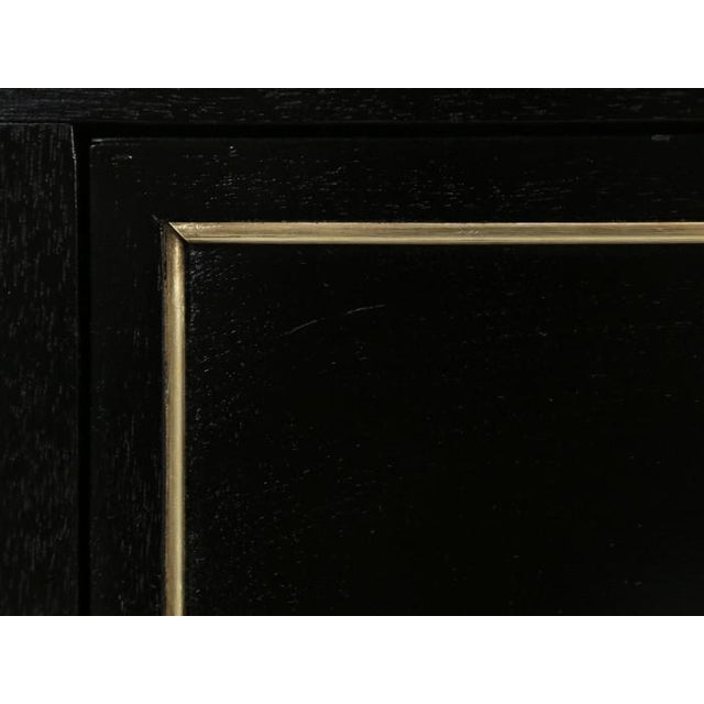 French Louis XVI Ebonized Finish Commode For Sale - Image 9 of 11