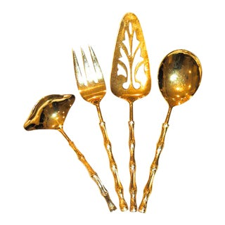 1960s Oxford Hall Gold Vermeil Serving Pieces - Set of 4 For Sale